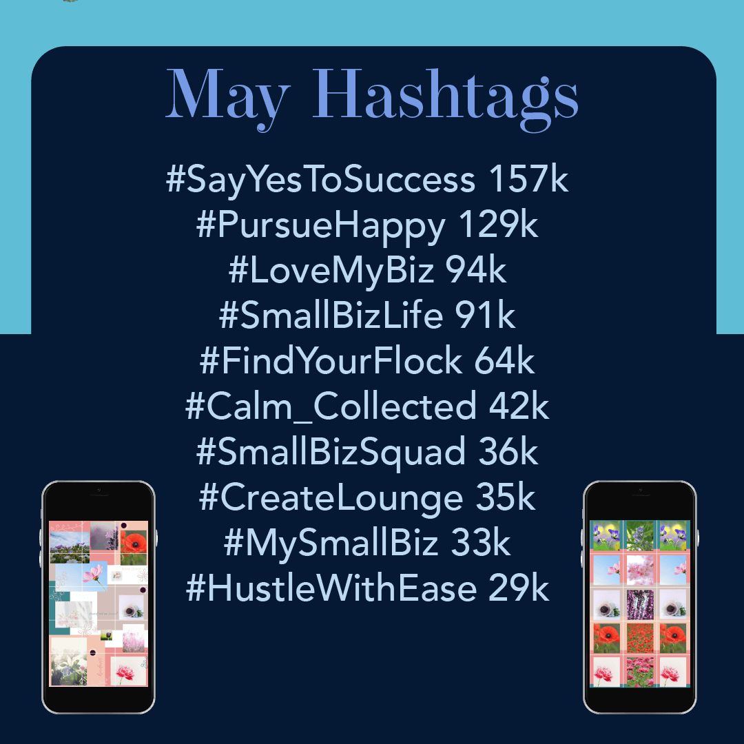 May 2019 Hashtags