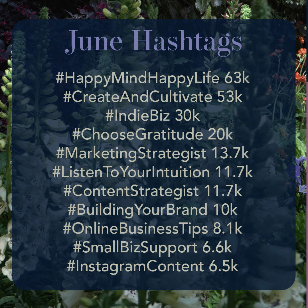 June 2019 Hashtags