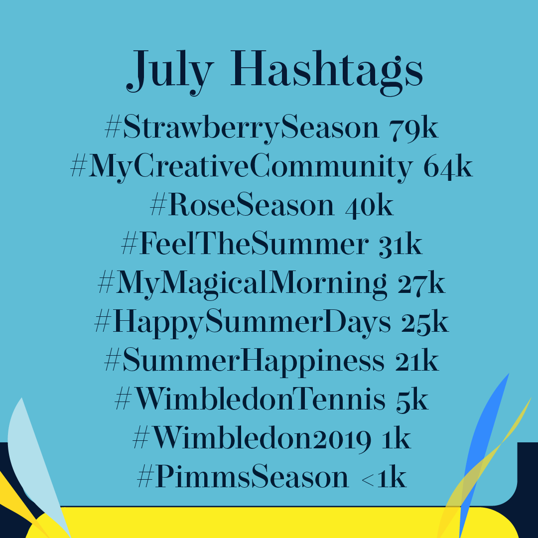 July 2019 Hashtags