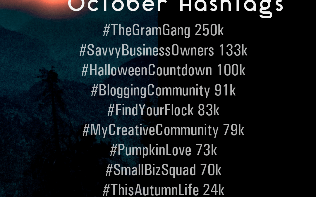 October 2019 Hashtags