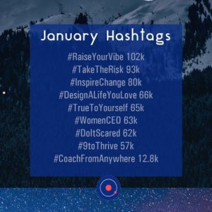 January Hashtags to use on Instagram