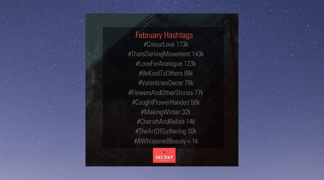 February 2020 Instagram Hashtags