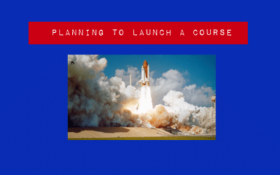Planning to launch a course
